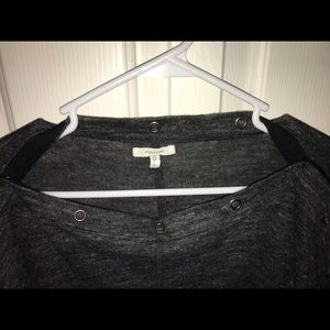 Maurices Tops - Maurice's Snap Neck Long Sleeve Grey Size Large